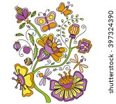 floral pattern | Shutterstock .eps vector #397324390