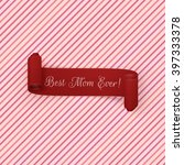 mothers day red scroll ribbon | Shutterstock .eps vector #397333378