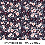 cute pattern in small flower.... | Shutterstock .eps vector #397333813