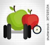 healthy lifestyle design  | Shutterstock .eps vector #397335154