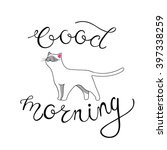 good morning card with hand... | Shutterstock .eps vector #397338259