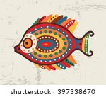decorative ornamental fish... | Shutterstock .eps vector #397338670