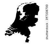 netherlands black map on white... | Shutterstock .eps vector #397338700