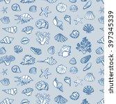 Shell Sea Life Vector Pattern