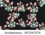 floral iris bell  background... | Shutterstock .eps vector #397347574