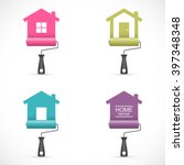 set of house renovation icons... | Shutterstock .eps vector #397348348
