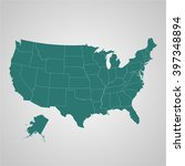 map  of usa with separable... | Shutterstock .eps vector #397348894