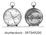 barometer offset metal to the... | Shutterstock . vector #397349200