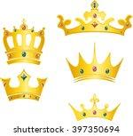 set of crowns | Shutterstock .eps vector #397350694