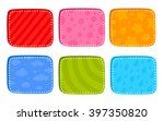 cartoon bright buttons for game ...