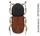 beetle bark beetle.... | Shutterstock .eps vector #397352404