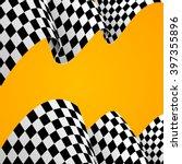 racing background  flag. vector ... | Shutterstock .eps vector #397355896