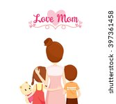 mother  son and daughter... | Shutterstock .eps vector #397361458