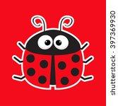 Cute Cartoon Lady Bug Sticker...