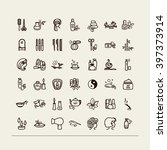 set of icons   beauty saloon ... | Shutterstock .eps vector #397373914