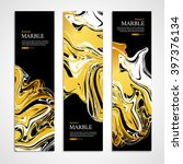 gold marble background banner.... | Shutterstock .eps vector #397376134