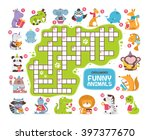 crossword  animals  vector | Shutterstock .eps vector #397377670