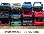 Car Bodies Stacked At The...