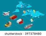 global logistics network web... | Shutterstock .eps vector #397378480