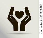 heart and hands | Shutterstock .eps vector #397383400