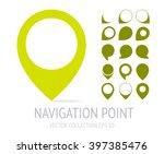 navigation point logotype.... | Shutterstock .eps vector #397385476