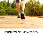 male walking outdoors.  | Shutterstock . vector #397390393