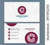 business card or visiting card... | Shutterstock .eps vector #397392253