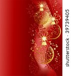 christmas red background with... | Shutterstock .eps vector #39739405