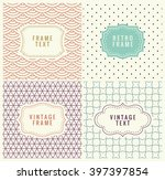 retro mono line frames with... | Shutterstock .eps vector #397397854