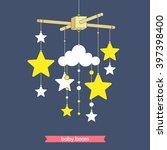 newborn toy. vector mobile for... | Shutterstock .eps vector #397398400