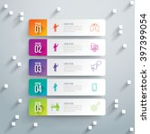 infographic design template can ... | Shutterstock .eps vector #397399054
