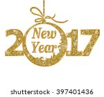 happy new year 2017  | Shutterstock .eps vector #397401436
