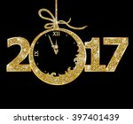 happy new year 2017  | Shutterstock .eps vector #397401439