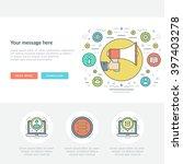 flat line business concept web... | Shutterstock .eps vector #397403278