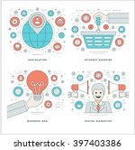 flat line location  internet... | Shutterstock .eps vector #397403386