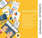 accounting concept.... | Shutterstock .eps vector #397403470