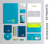 corporate identity template in... | Shutterstock .eps vector #397404970