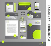 grey corporate identity... | Shutterstock .eps vector #397404994