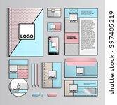 corporate identity template... | Shutterstock .eps vector #397405219