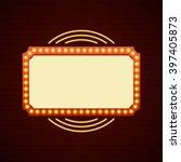 retro showtime sign design.... | Shutterstock .eps vector #397405873