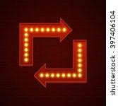 retro showtime sign design.... | Shutterstock .eps vector #397406104