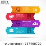 vector 3d arrows infographic ... | Shutterstock .eps vector #397408720
