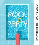 pool party invitation poster ... | Shutterstock .eps vector #397416010