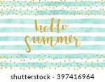 pretty summer card template.... | Shutterstock .eps vector #397416964