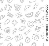 illustration seamless pattern... | Shutterstock .eps vector #397419220