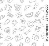 illustration seamless pattern... | Shutterstock .eps vector #397419220