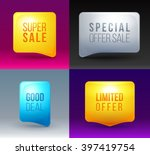 set of modern colorful sale... | Shutterstock .eps vector #397419754