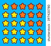 orange game rating stars icons...