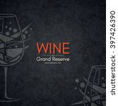wine list design. vector... | Shutterstock .eps vector #397426390