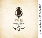 wine list design. vector... | Shutterstock .eps vector #397426408